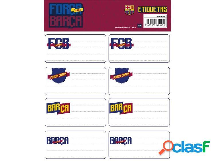 Etiquetas escolares f.c barcelona 16 x 20 cm