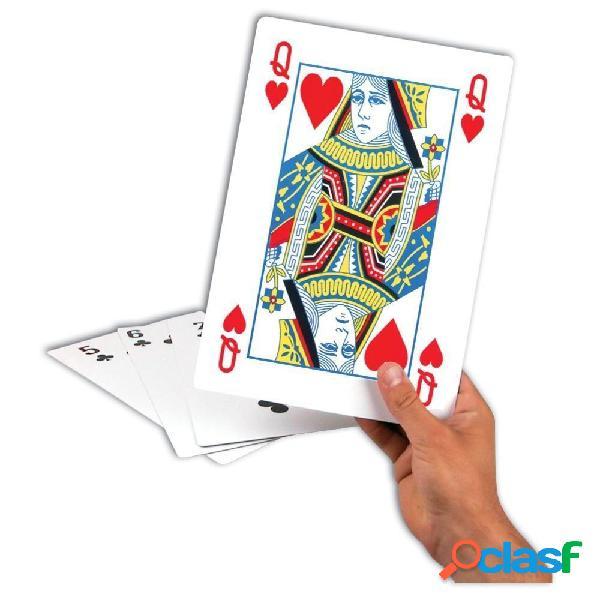 Cartas de poker gigantes 28 cm