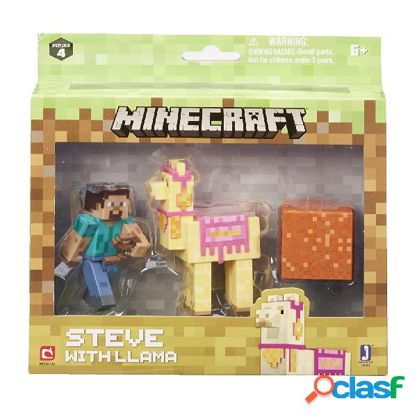 Set minecraft steve con llama