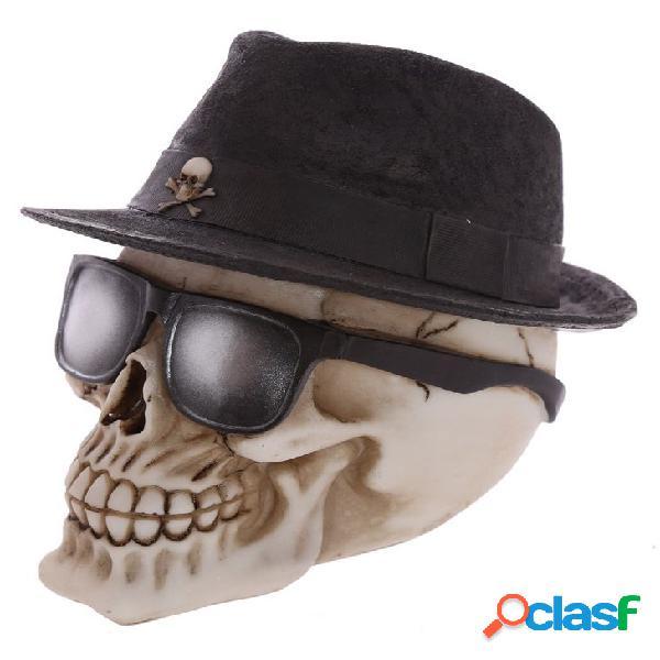Figura calavera con sombrero