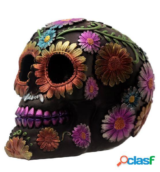 Figura calavera mexicana colores