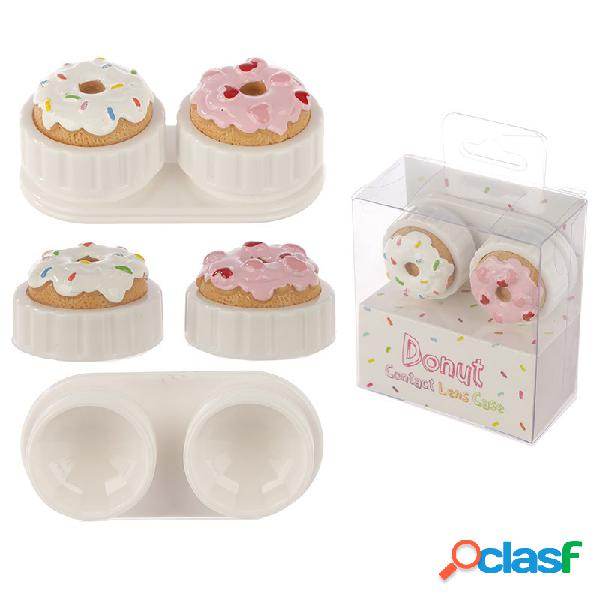 Estuche para lentillas donuts