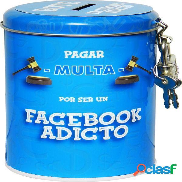 Hucha colecta multa para adictos al facebook