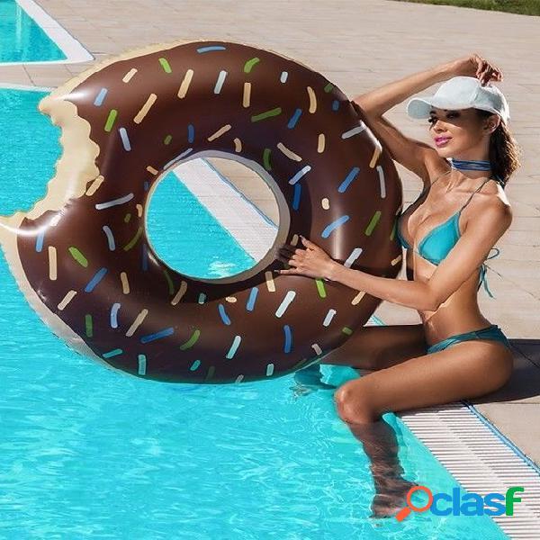 Flotador hinchable donut chocolate 105 cm