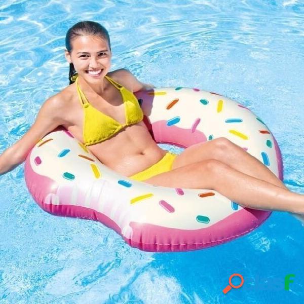 Flotador hinchable donut fresa y nata