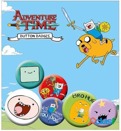 Pack 5 chapas hora de aventuras