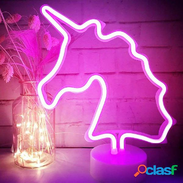 Figura lampara neon unicornio
