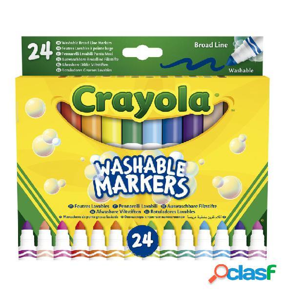 Set 24 Rotuladores lavables Maxi Punta Crayola