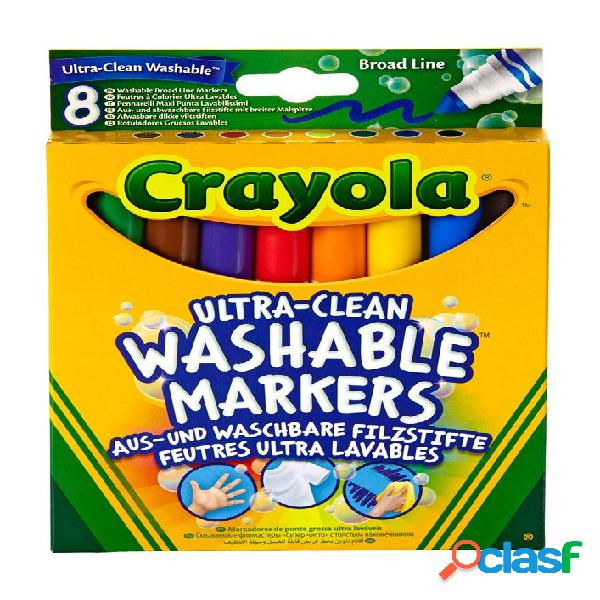 Set 8 rotuladores lavables maxi punta crayola