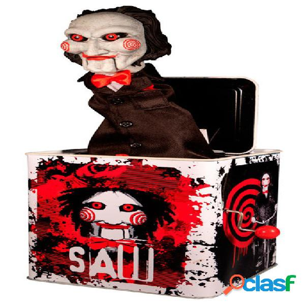Figura billy saw caja de musica burst in a box