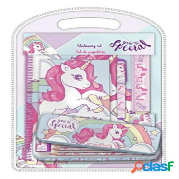 Set papeleria unicornio 12 piezas