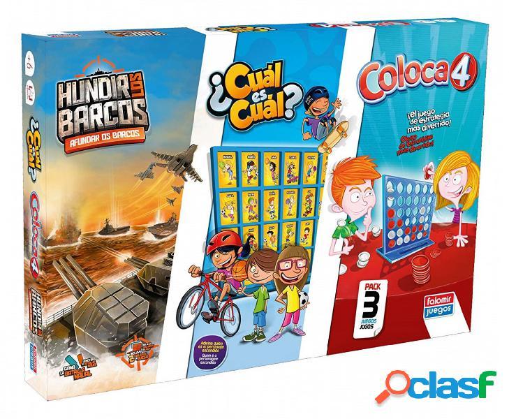 Pack juegos hundir barcos + coloca4 + ¿ cual es cual €
