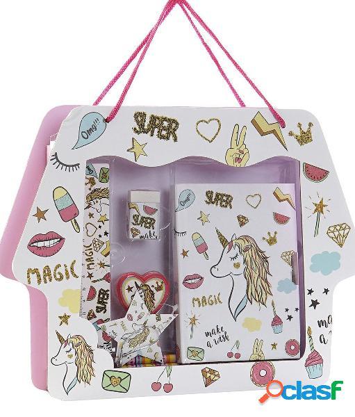 Set papeleria unicornio 6 piezas