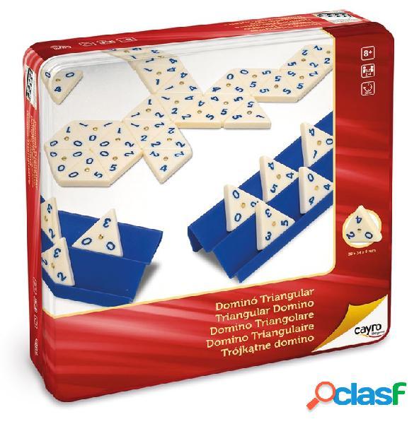 Domino triangular metal box