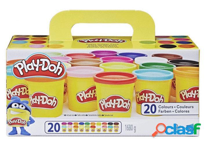 Pack 20 botes plastilina play-doh