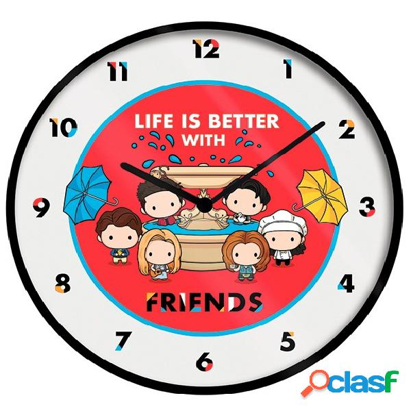 Reloj de pared chibi friends