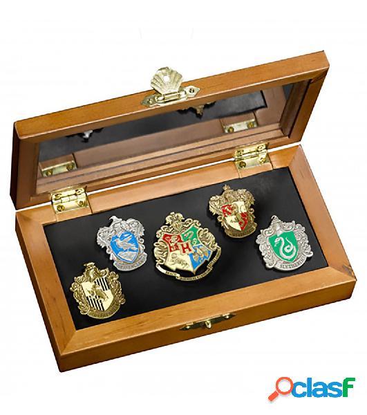 Set 5 pin emblemas harry potter