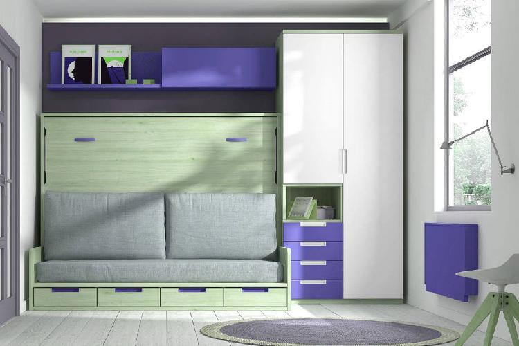 Composicion de cama abatible con sofa frm37