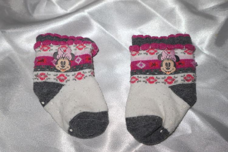 Calcetines minnie mouse bebé 0-9 meses