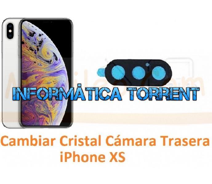Cambiar cristal cámara trasera iphone xs