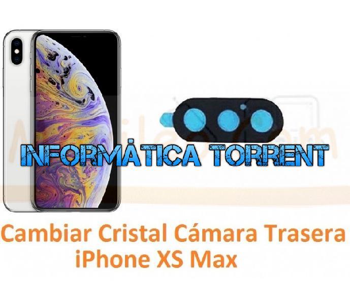 Cambiar cristal cámara trasera iphone xs max