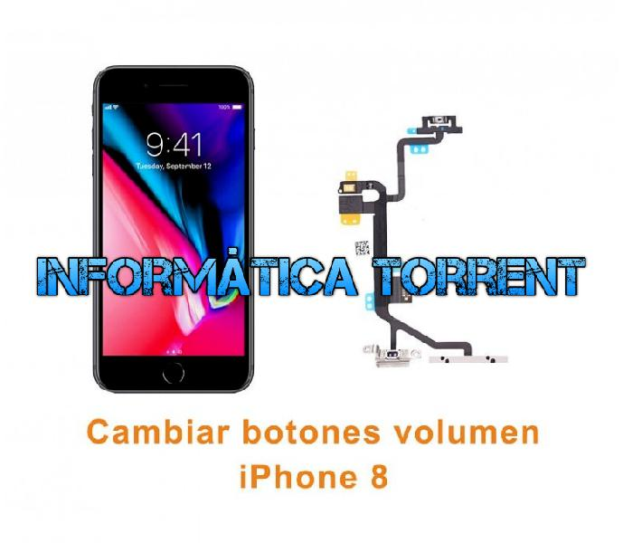 Cambiar flex botones volumen iphone 8