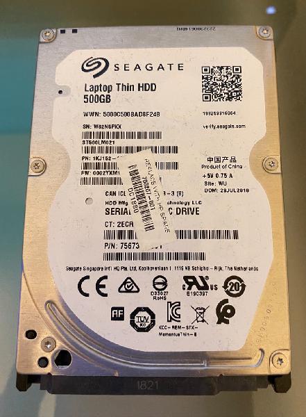Disco duro sata 2,5 500gb seagate