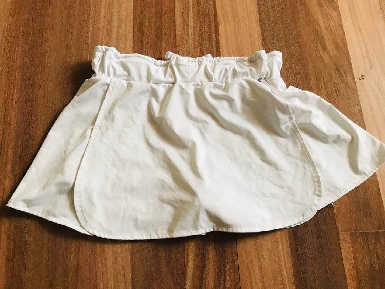 Falda blanca tenis joma 10-12 años