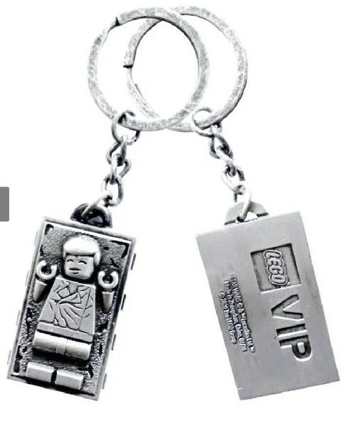 Lego 5006363 llavero metalico han solo carbonita