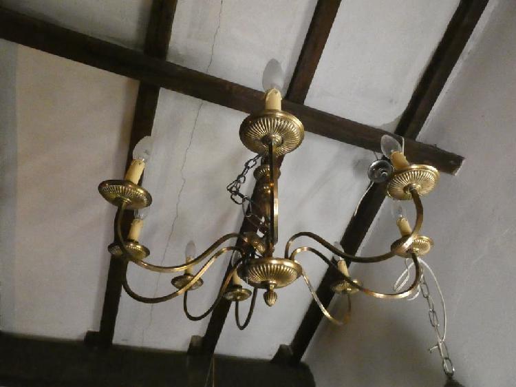 Lámpara araña bronce