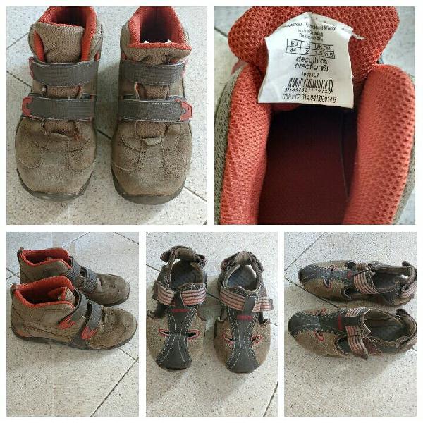 Lote calzado niños quechua y geox . regalo cosas.