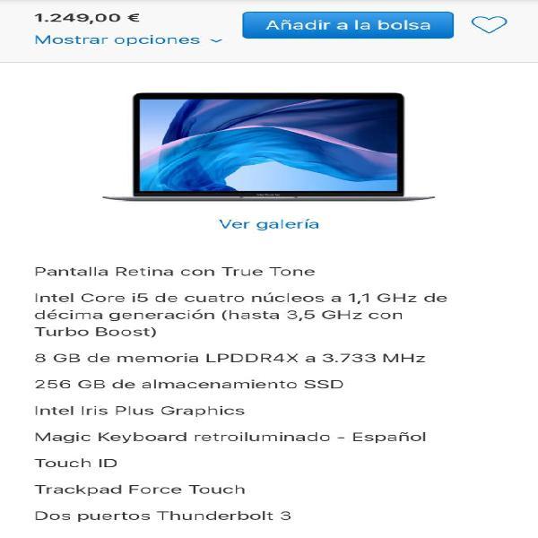 "Macbook air 13"" 2020 i5"