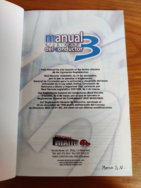 Manual del conductor (Permiso B)