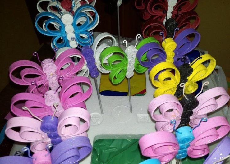 Mariposas de colores varios para adornar