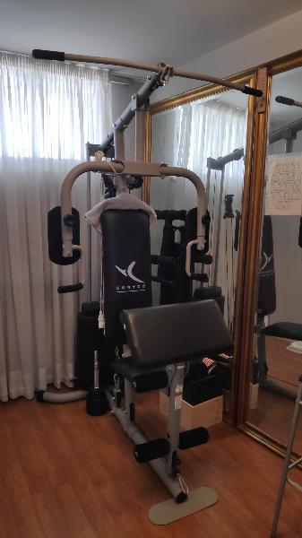 Máquina musculación y regalo banco abdominales