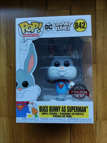 Pop! bugs bunny as superman 842 special edition