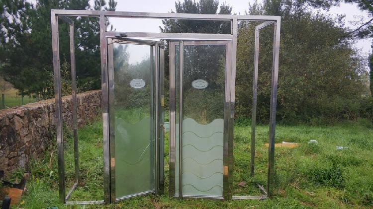 Puertas inox, frontal, marcos 100% inox 316 espejo