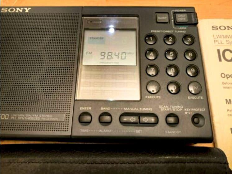 Radio sony icf7600
