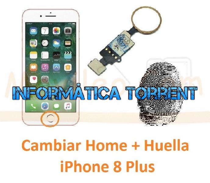 Reparar botón home y huella iphone 8 plus