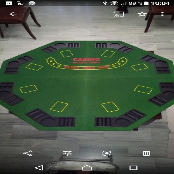 Tapete poker para mesa.