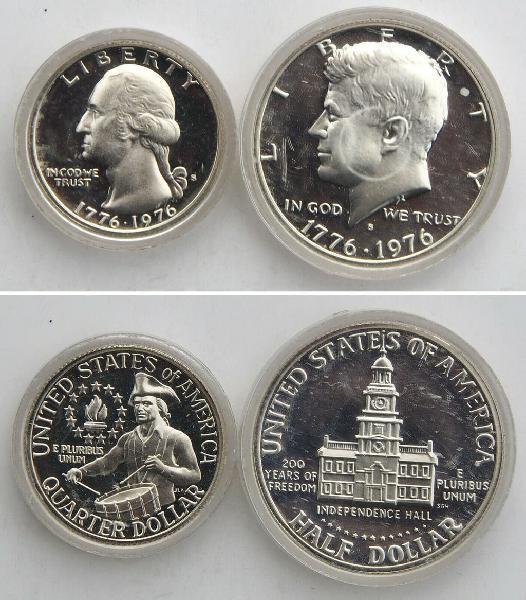 United states of america quarter dollar 1976 s hal