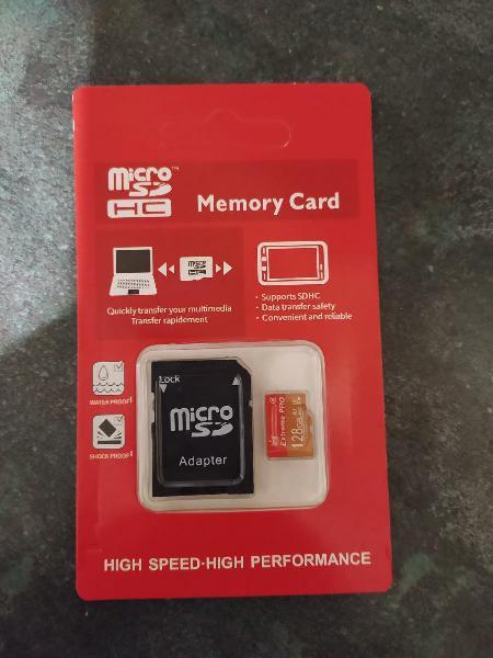 Tarjeta micro sd 128 gb con adaptador