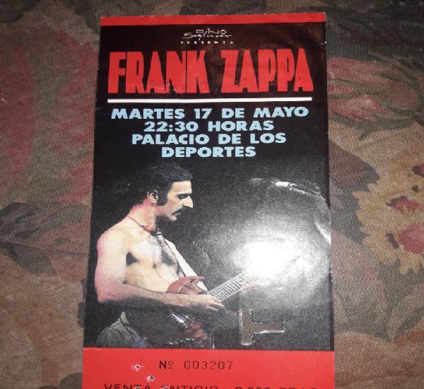 Entrada frank zappa bcn.1988
