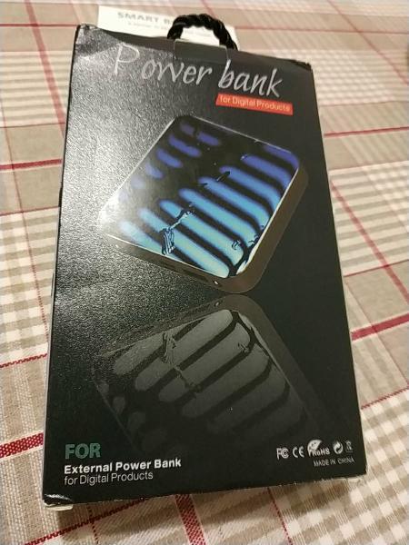 Batería recargable powerbank, 20.000 mah