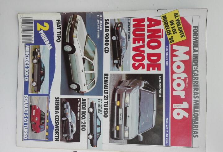 Motor 16 - n 224 - febrero 1988 - saab 9000 cd - renault 21