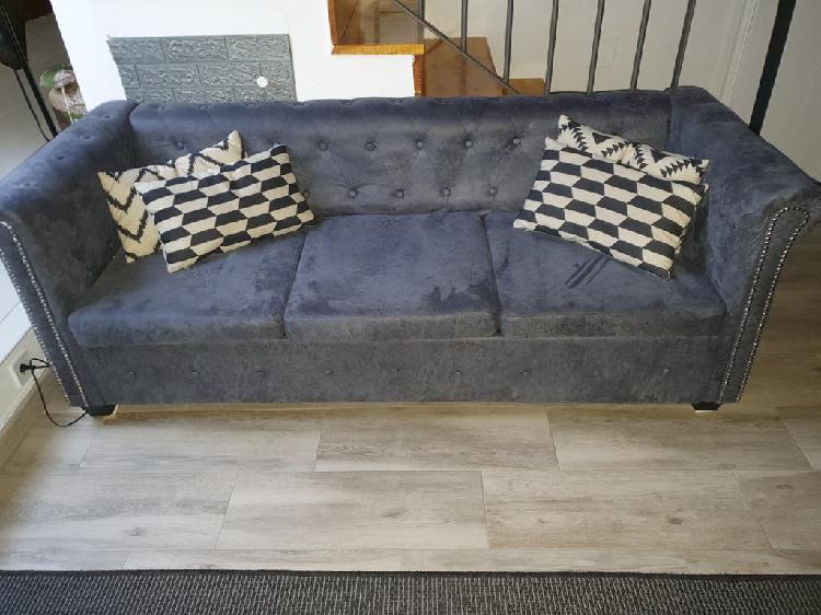Sofa chester 3+2 gris estado perfecto