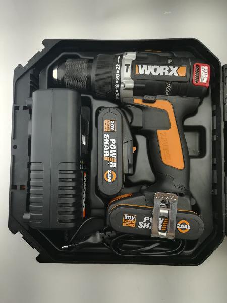Taladro atornillador percutor a bateria worx wx373