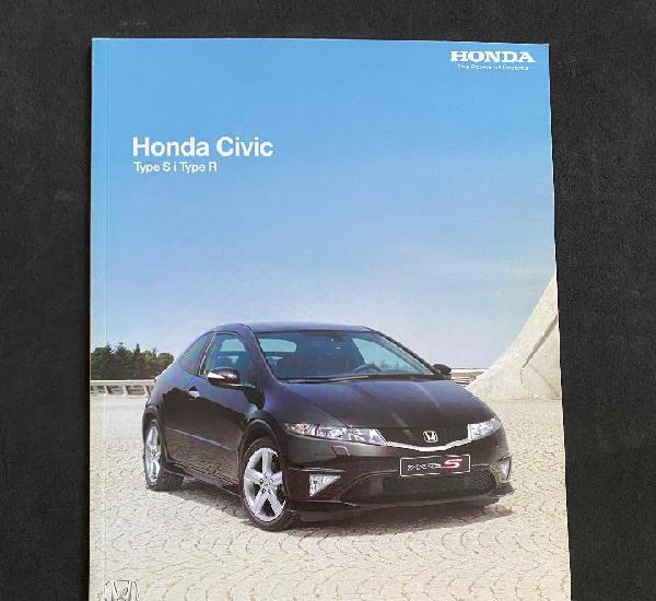 Catalogo folleto publicidad honda civic type s - type r