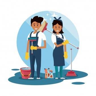 Matrimonio para limpiezas y mantenimiento