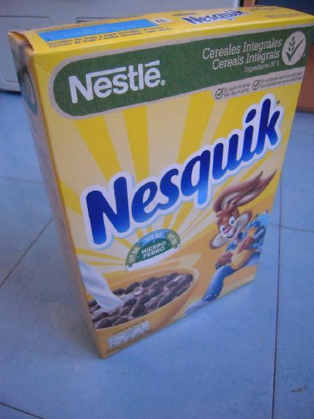 Cereales integrales chocolateados nesquik